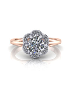 Rose Gold 2 Tone Engagement Ring