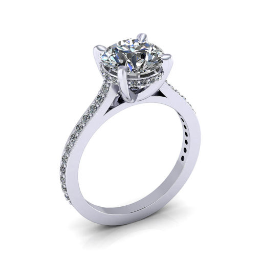 Diamond Underbezel Engagement Ring