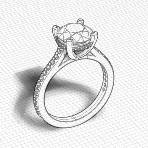Diamond Underbezel Engagement Ring