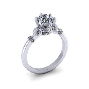 Regal Crown Engagement Ring