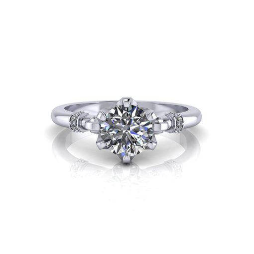 Regal Crown Engagement Ring
