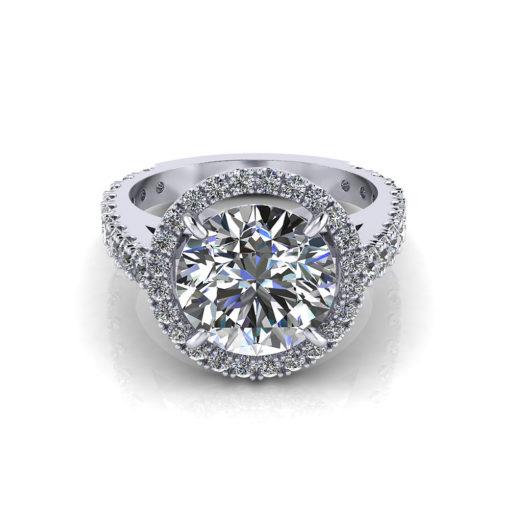 3 Carat Diamond Halo Ring