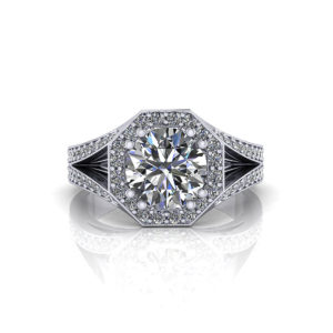 Octagon 2 Carat Diamond Ring