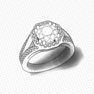 Octagon 2 Carat Diamond Ring