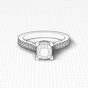 Line Set Engagement Ring