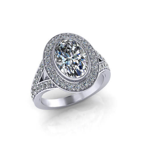 2 Carat Oval Engagement Ring