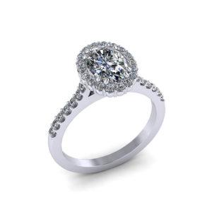 Halo Oval Diamond Engagement