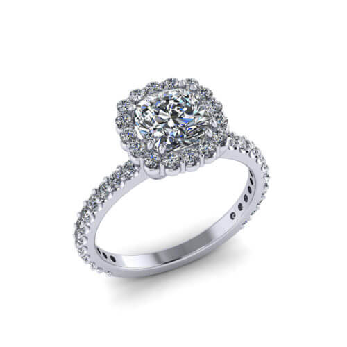 1.5 Carat Cushion Diamond Ring