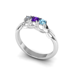 Floral Prong Mothers Ring