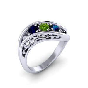 Filigree Mothers Ring