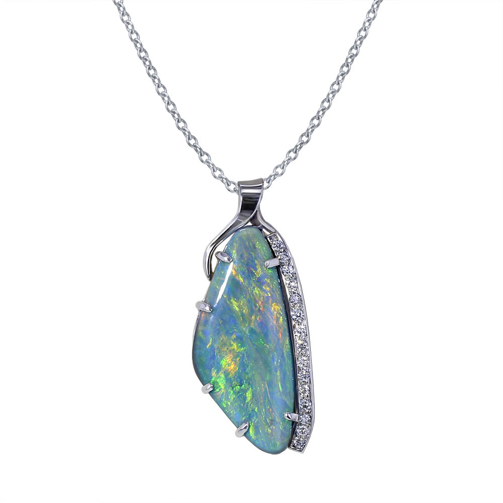 Australian Opal Slide Necklace