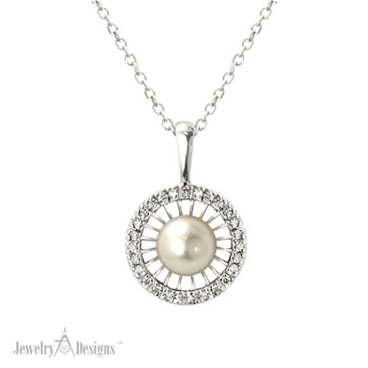 NC562-2 Pearl Halo Necklace