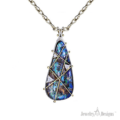 NC641 Boulder Opal Necklace