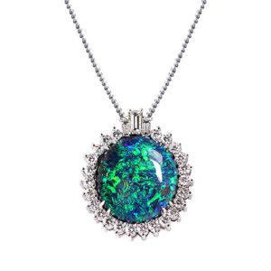 NC643-1 Rare Black Opal Pendant