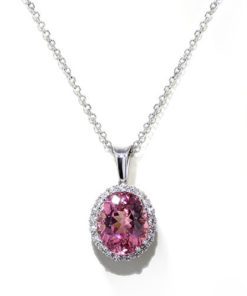 Handmade Pink Tourmaline Necklace