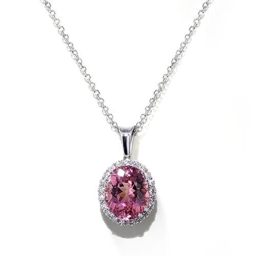 Handmade Pink Tourmaline Necklace
