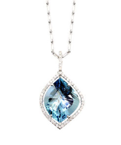 Floating Aquamarine Necklace