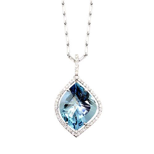 Floating Aquamarine Necklace