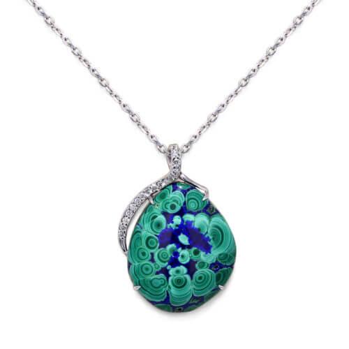 Malachite Azurite Necklace