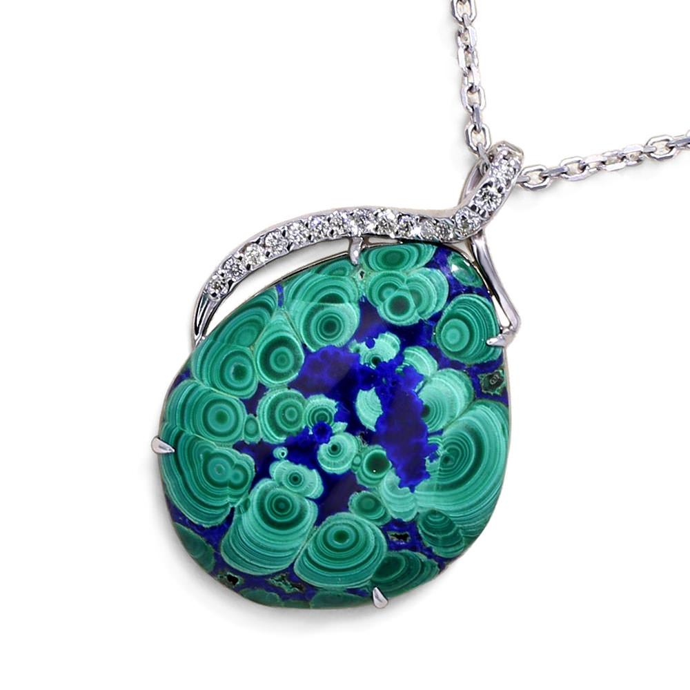Malachite Azurite Necklace - Jewelry Designs