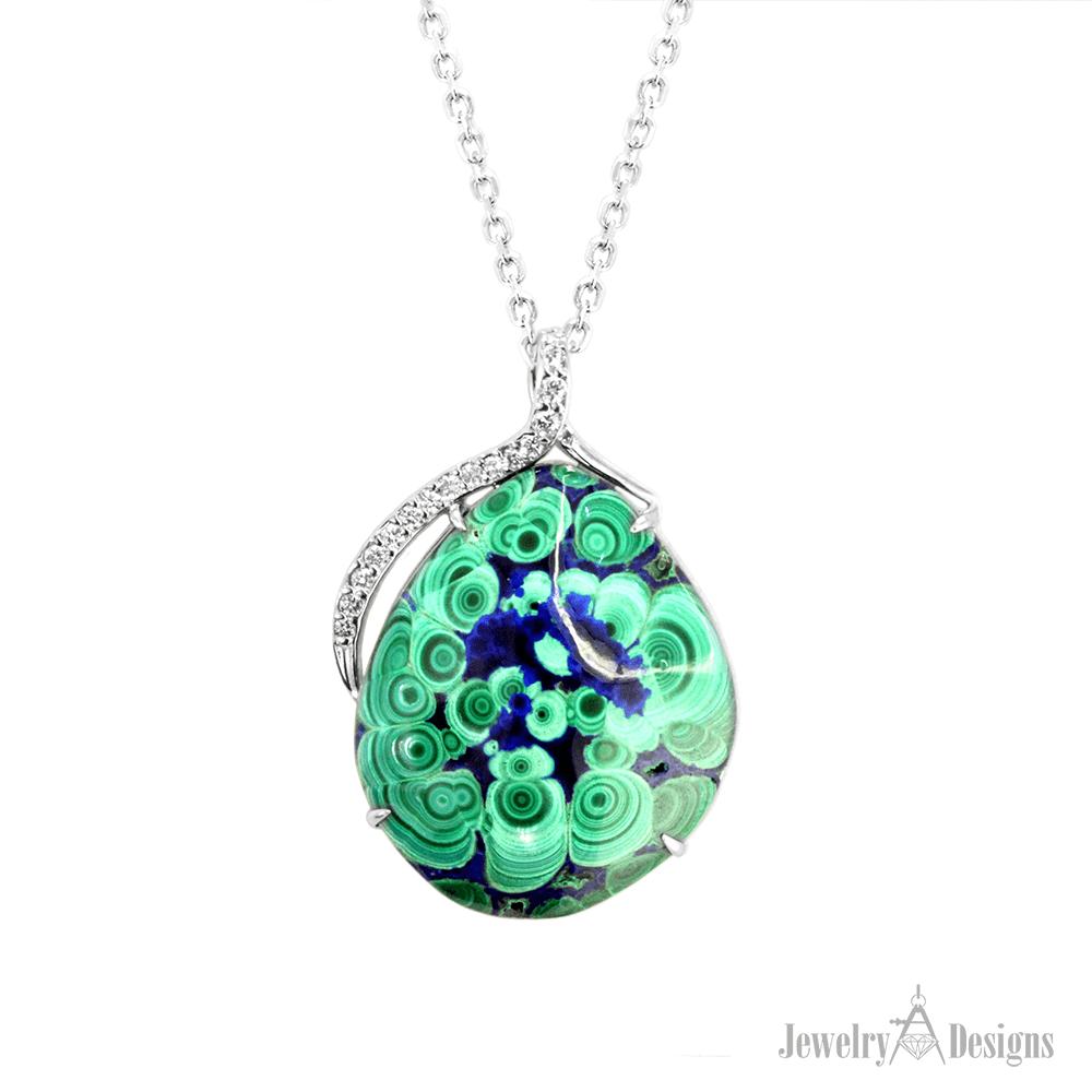 NC698-2 Malachite Azurite Necklace