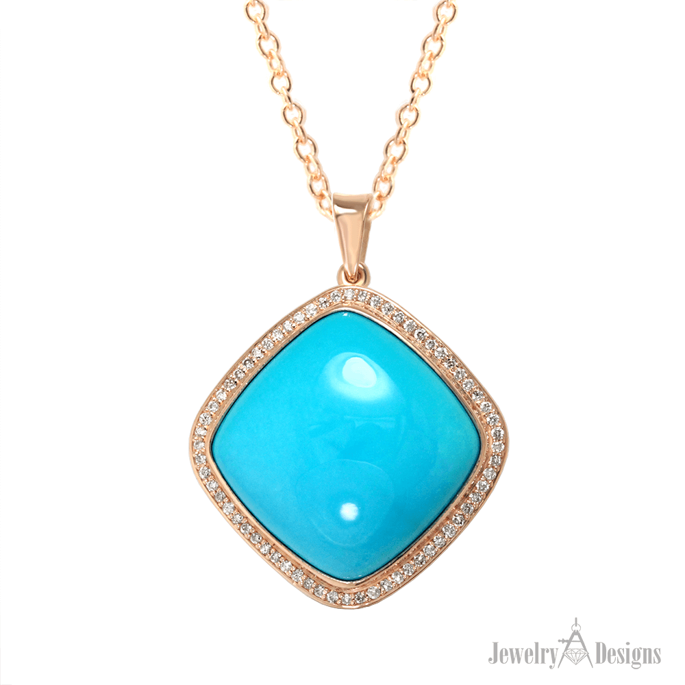 NC715-1 Rose Gold Turquoise Necklace