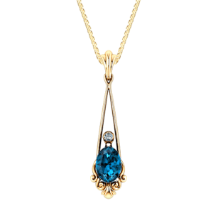 Vintage Blue Topaz Necklace