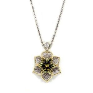 Zultanite Flower Necklace