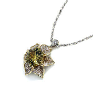 Zultanite Flower Necklace