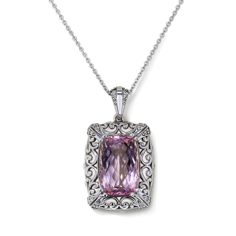Filigree Morganite Necklace