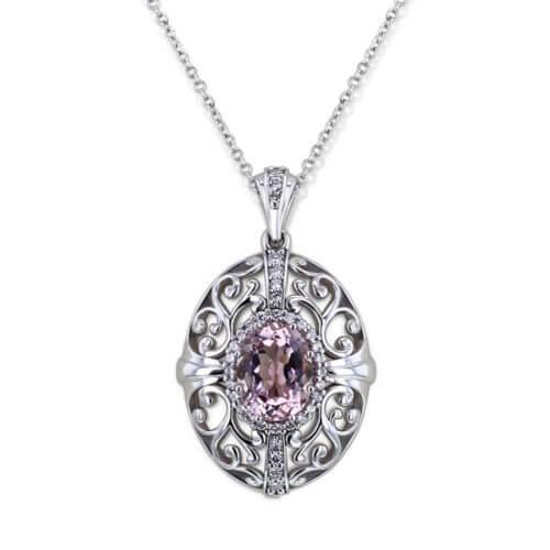 Vintage Morganite Necklace