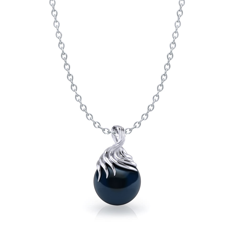 artistic tahitian black pearl necklace jewelry designs