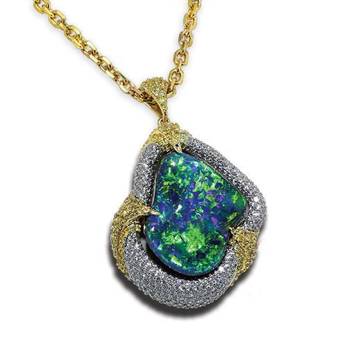 black opal necklace jewelry designs