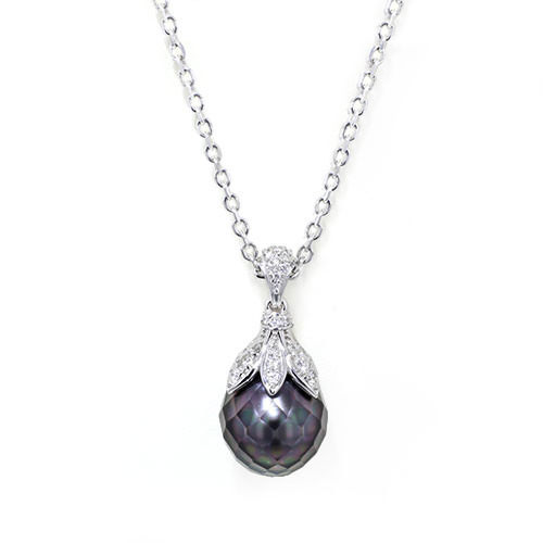 faceted black pearl necklace jewelry designs. Black Bedroom Furniture Sets. Home Design Ideas