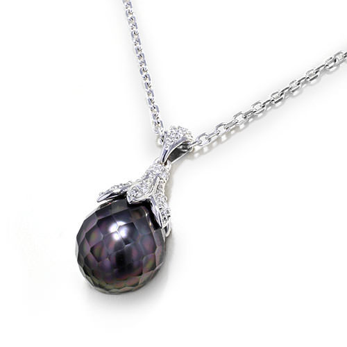 faceted black pearl necklace jewelry designs