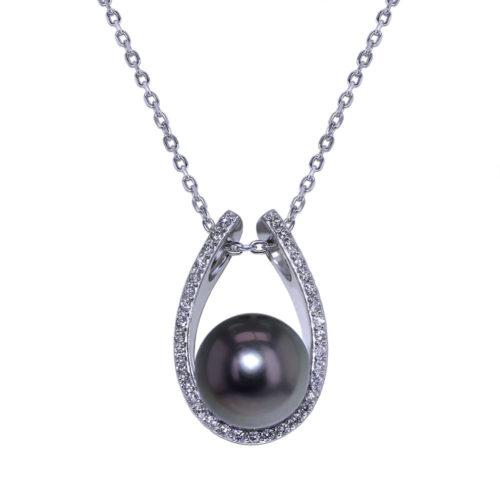 Tahitian Pearl Diamond Necklace
