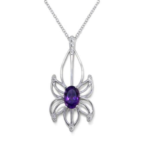 Amethyst Flower Necklace