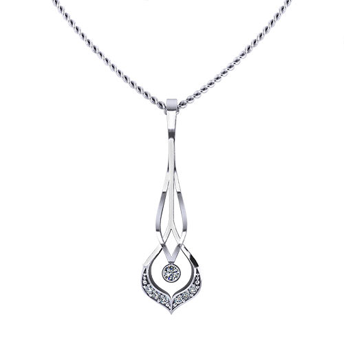 Airy Diamond Necklace
