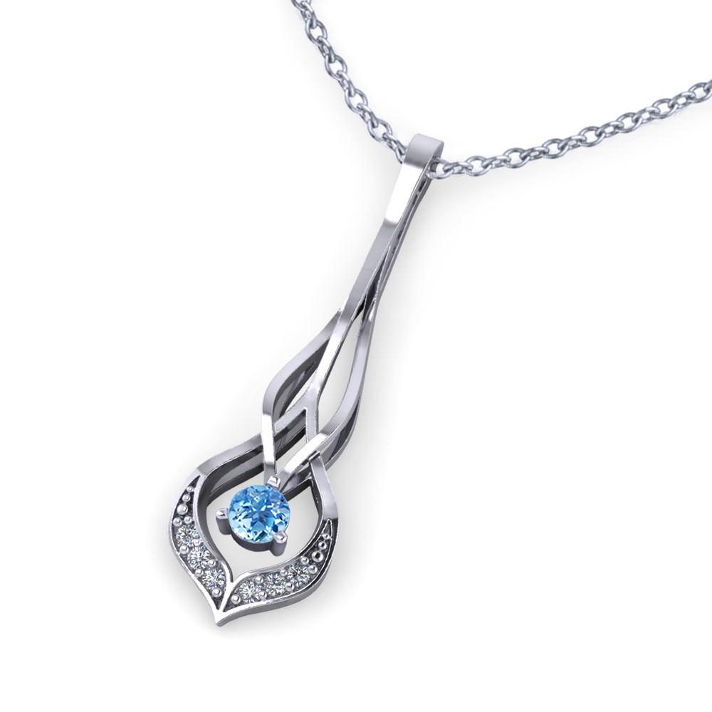 Interwoven Aquamarine Necklace
