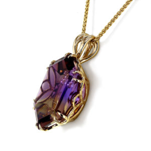 Ametrine Fish Necklace angle