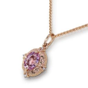 Rose Gold Morganite Necklace