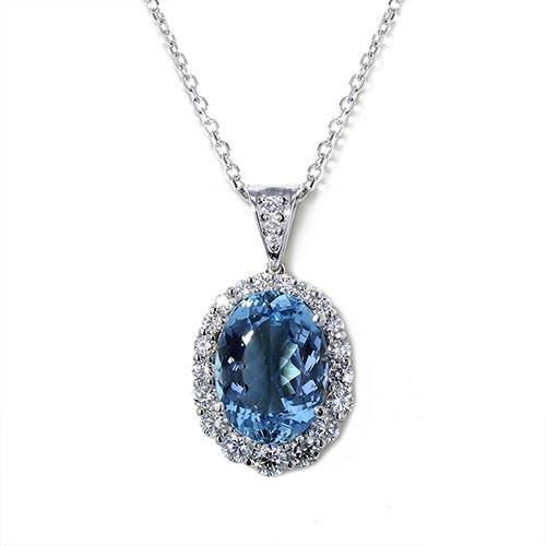 Oval santa maria aquamarine necklace jewelry designs for Santa maria jewelry company