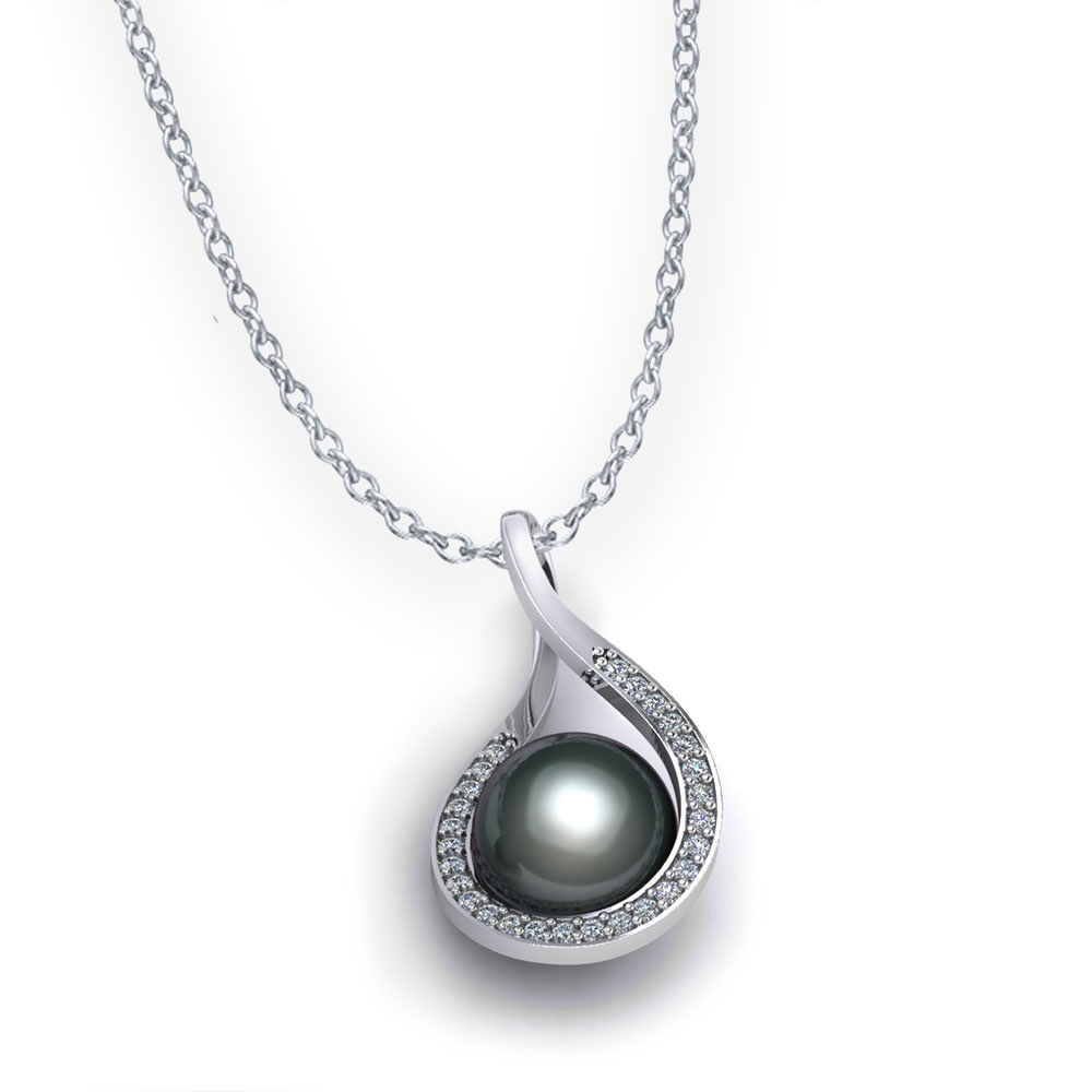 pendant certificate freshwater diamond gold including jewelry store pearl and of