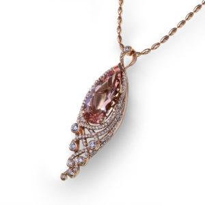Pear Shape Morganite Necklace
