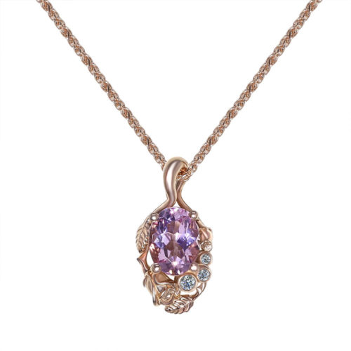 Morganite Rose Gold Necklace