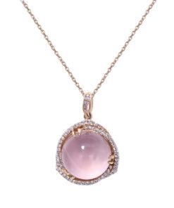 Star Rose Quartz Necklace