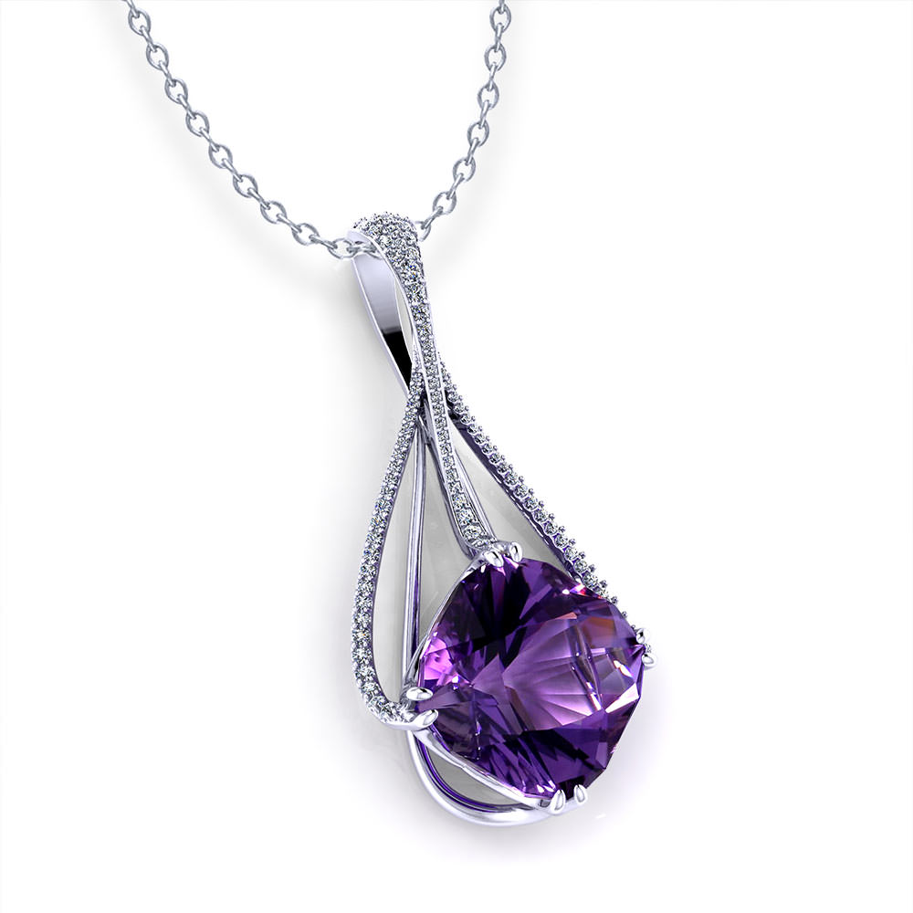 amethyst slide necklace jewelry designs