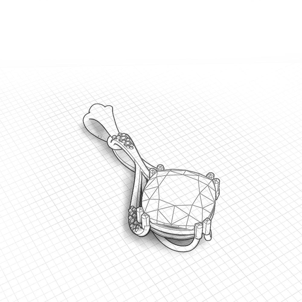 Drop Cushion Amethyst Pendant