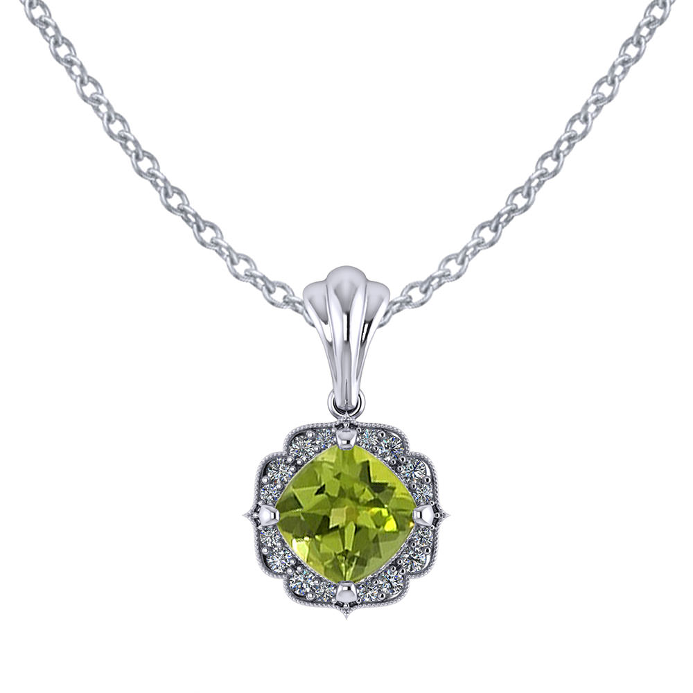 pendant necklace shaped v heart peridot in silver p sterling heartshaped