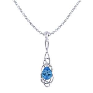 Whimsical Blue Topaz Pendant